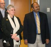 IMAGE: Wolfgang Losert, PhD, of UMCP, Lisa Shulman, MD, of the SOM, and Amitabh Varshney, PhD, of UMCP listen as their 2015 grant awards are announced.